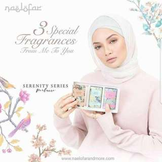 READY STOCK💕NAELOFAR SERENITY SERIES PERFUME SET/15ml.  Processing proceed upon full payment received via bank transfer