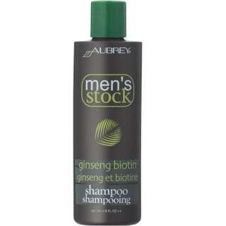 Aubrey Organics Men's Stock Ginseng Biotin Shampoo 8 oz Liquid