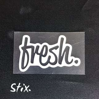 Fresh Vinyl Cut Sticker