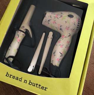Bread and butter mini hair dryer & curler set