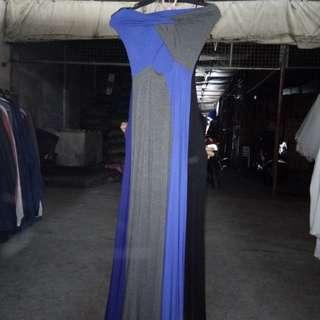 Long semi gown
