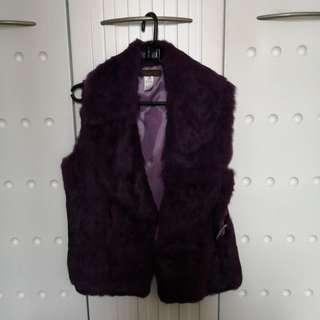 Cotton polyester fur 背心
