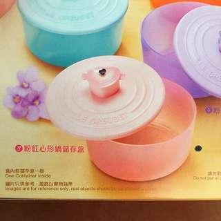 711 Le Creuset la petite collection粉紅色心形鍋 儲存盒