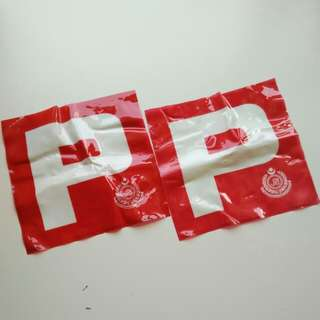 JPJ P sign sticker