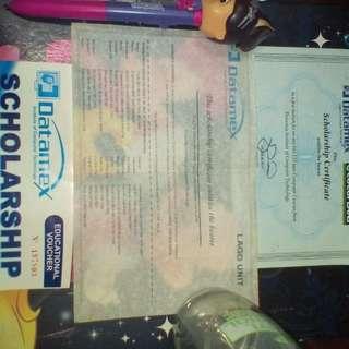 Datamex Scholarship  Certificate