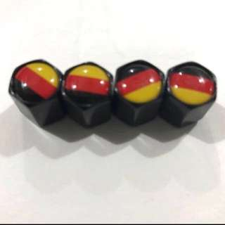 Tire Air Valve Caps for Volkswagen & Audi German flag