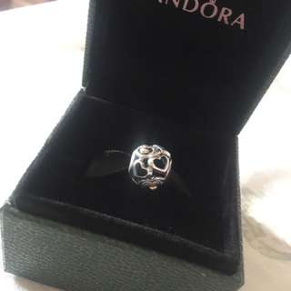 Authentic Preloved Pandora TT Hearts of Romance charm