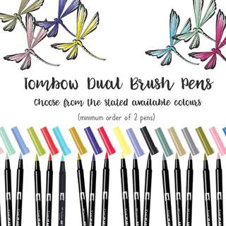 NEW STOCK on 19 FEB 18 - Authentic Tombow Dual Brush Pen (price is for 1 pen, min order of 2 pens) for Brush Lettering and Hand Lettering Brush pens and hand lettering pens Modern calligraphy pens