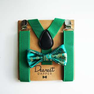 Chinese New Year Boy's Bow Tie Set (QiPao Fabric, for Shirts)