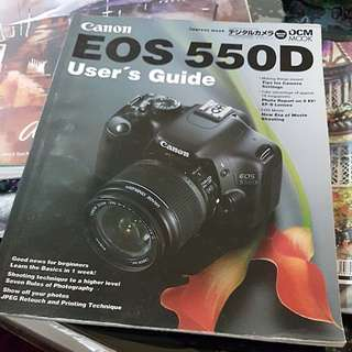 Canon EOS 550D users guide.