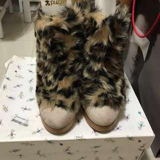 I.T. Puzzle  豹紋短boot