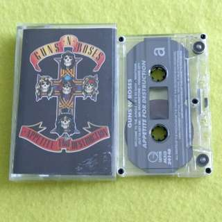 GUN N ROSES. appetite for destruction. Cassette tape not vinyl record