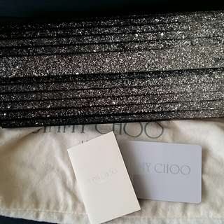 JIMMY CHOO GLITTER CLUTCH