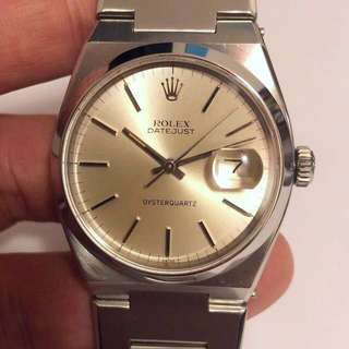 ♛ Rolex first version Quartz ref 17000 Datejust otsterquartz 36mm