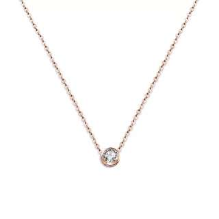 Luxury Rose Gold Necklace petite simple minimalistic