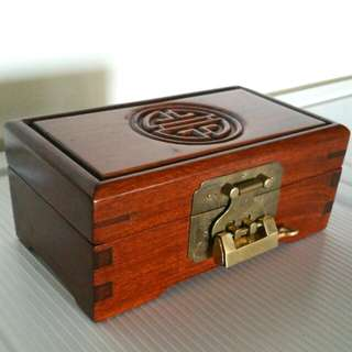 Vintage Rosewood Jewelry Box