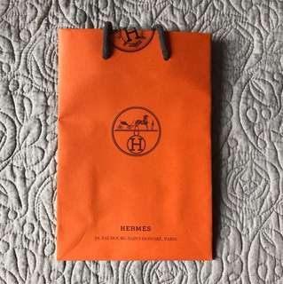 Hermes small paper bag