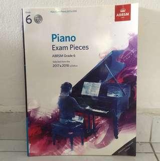  ABRSM Piano Grade 6 with CD Singapore Edition 2017 2018 2017-2018 New No Marks / LCM Trinity Exam