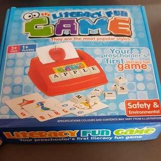 Toddlers spelling fun game