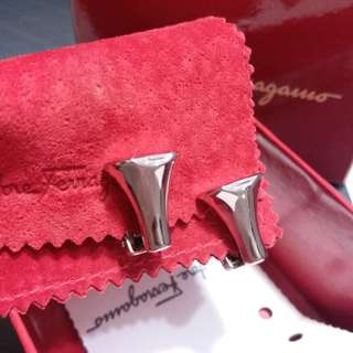 Auth and brand new Ferragamo earclips earrings