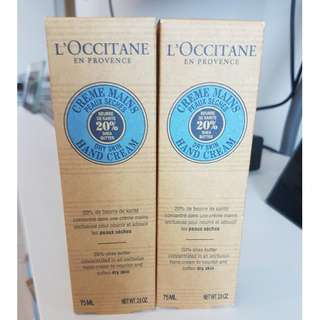 L'occitane 20 Shea Butter Hand Cream Dry Skin 75ml (2.6oz) (available until Feb 14th)