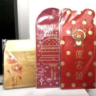 全新鬆弛熊&周大福利是封(3包) Brand New Rilakkuma & Chow Tai Fook Red Packet (3 Packs)