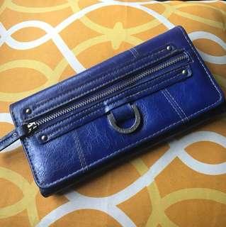 Franco Sarto blue tri-fold wallet
