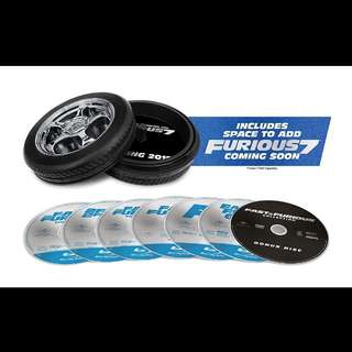 Fast & Furious 6 movie bluray collection | 6 bluray and 1 dvd