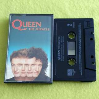 QUEEN. the miracle. Cassette tape not vinyl record
