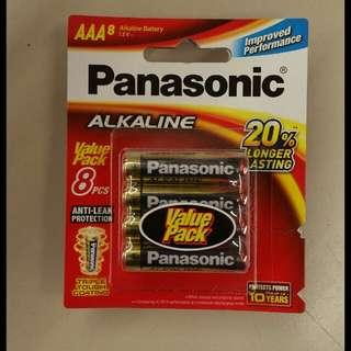 Panasonic 8× AAA Alkaline Battery #Huat50Sale