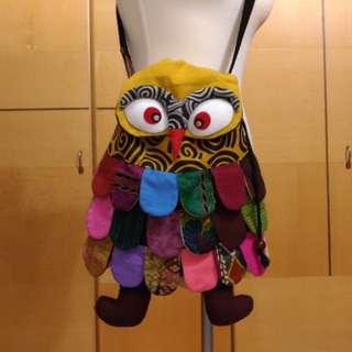 貓頭鷹側背布包