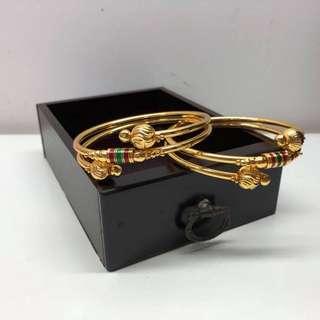 印度 鍍金 手鐲 手環 手鈪 ethnic India Jewellery bangles