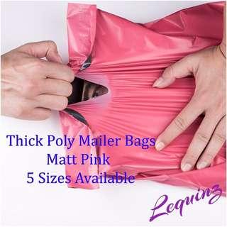 Matt Pink Poly mailer Bags Parcels bags