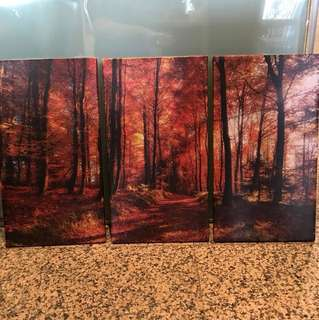 FREE Autumn leaves print, wrapped on canvas
