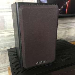 Monitor Audio Bronze 1 speakers Black Oak Vinyl color