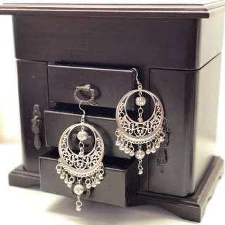 印度 銀 耳環 民族首飾 India sliver earring ethnice