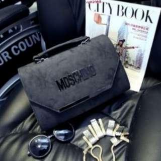 Moschino Silver Lined Handbag