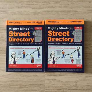 Street Directory $5 in bundle (2sets 2011/2012)
