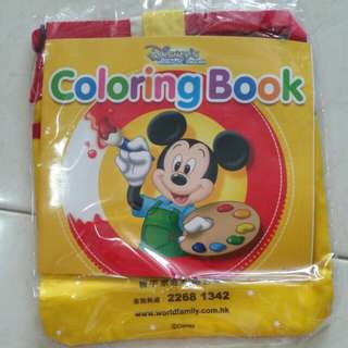 BN Disneyland Sling Bag and Colouring Book