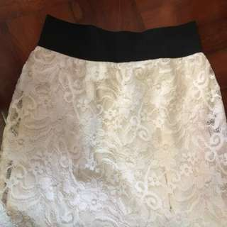 Hollister skirt lace