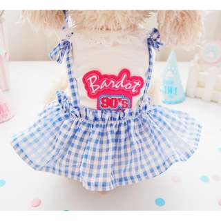 BN Summer Retro 90s Checkered Pets Tee Dress - for Cats/ Dogs - In Stocks Availability