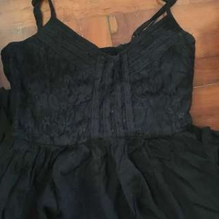 Black dress with lace