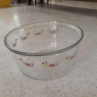 huge floral glass bowl