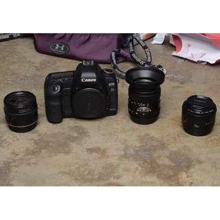 Canon EOS 5D Mark II + Canon EF 24mm 2.8 + Canon EF 50mm 1.8 + Zhongyi 35mm f/2