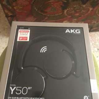 AKG Y50BT Portable Foldable On-Ear Rechargeable Bluetooth Headphones - Black