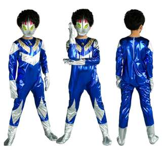 Ultraman Hero Costume with LED Mask for Kids BLUE