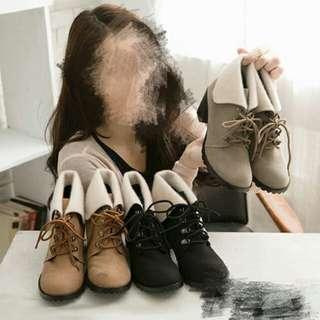 🚚 反折麂皮短靴 全新