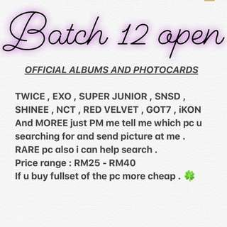 BATCH12 open.