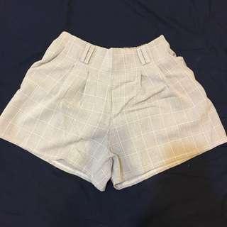🚚 韓系氣質格子短褲