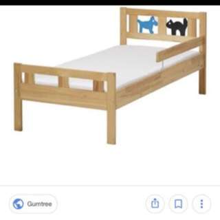 Ikea Kritter Toddler Bed - 2 in white & 1 in pine